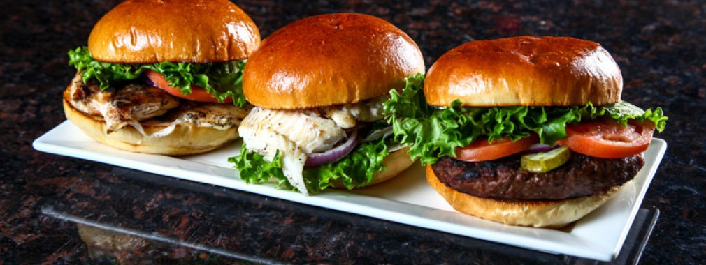 burger chicken fish sandwiches light meals  take out georgetown restaurant