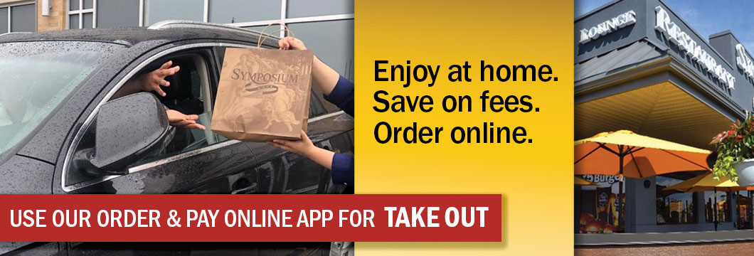 Symposium Cafe Brantford- Patio dining restaurant take out delivery