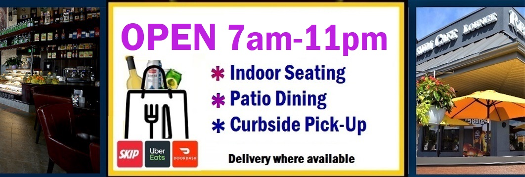 Symposium Cafe Bolton - Patio dining restaurant take out delivery