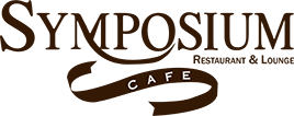 Symposium Cafe Restaurant Logo Dark