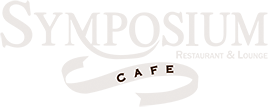 Symposium Cafe Restaurant Logo