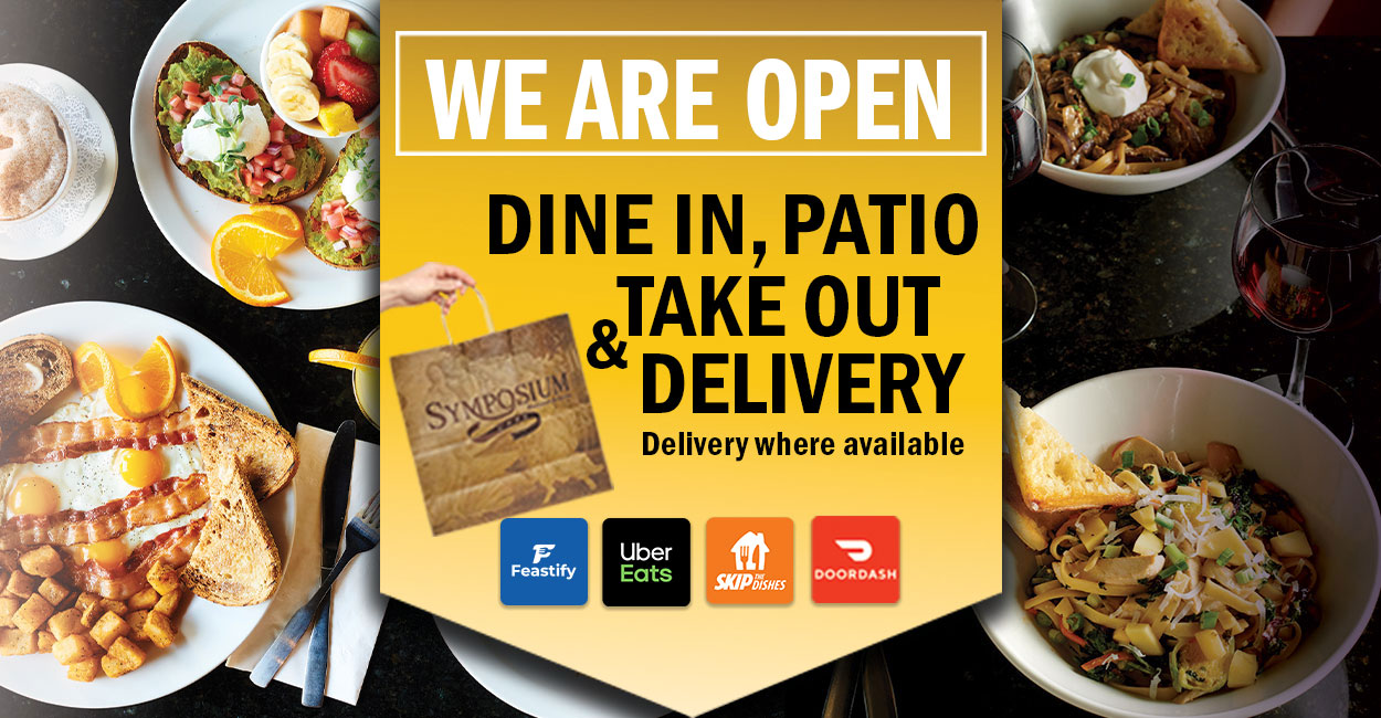 Open for patio dining restaurant