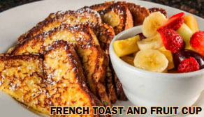 French Toast and Fruit cup