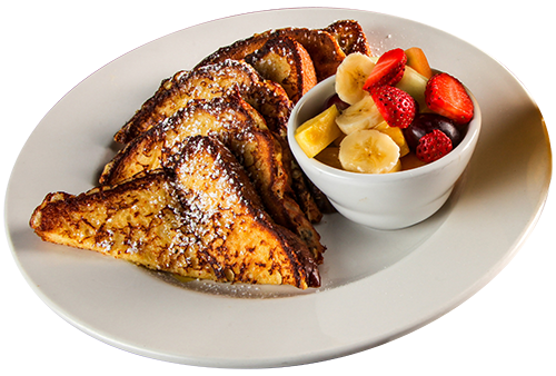 French toast at Symposium Cafe
