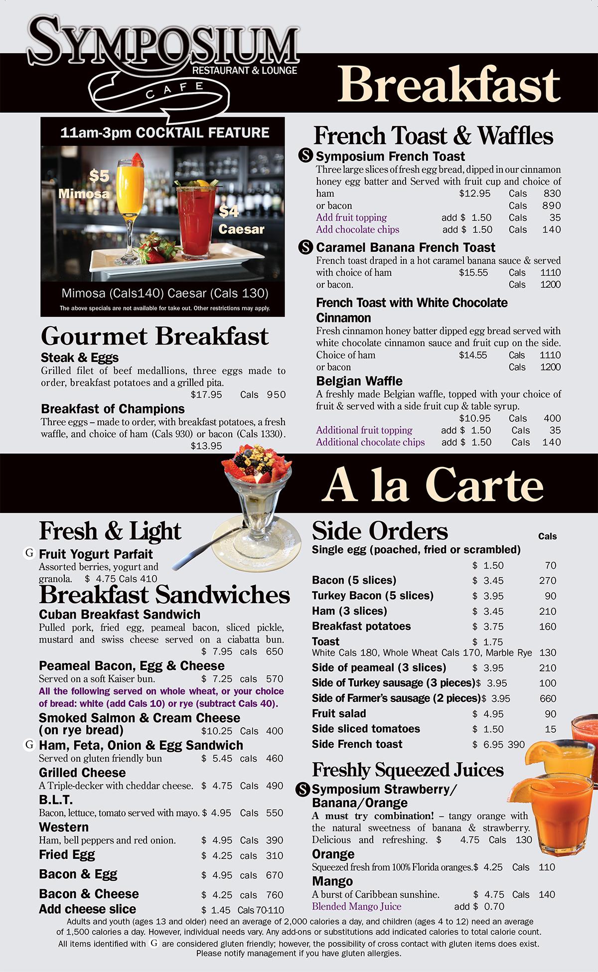 Cafe Bar  Keswick Menu